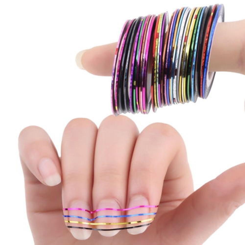 Фото дизайн ногтей на ленте клейкой