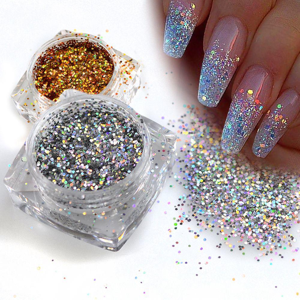 Дизайн ногтей блестками посыпками