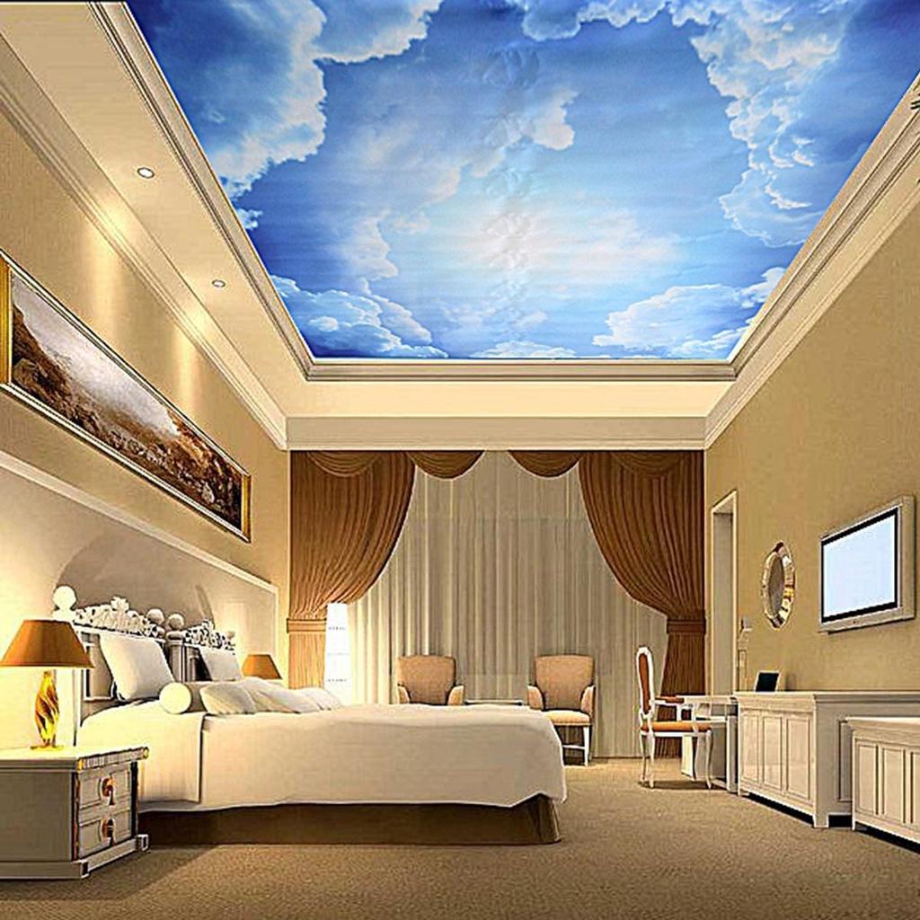 Интерьер потолка с фотообоями