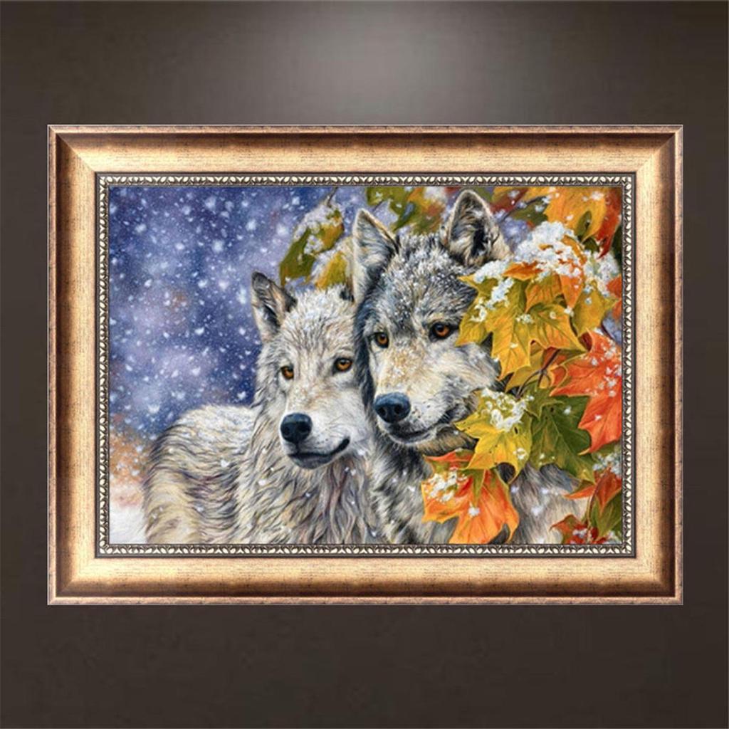 Алмазная вышивка фото волк