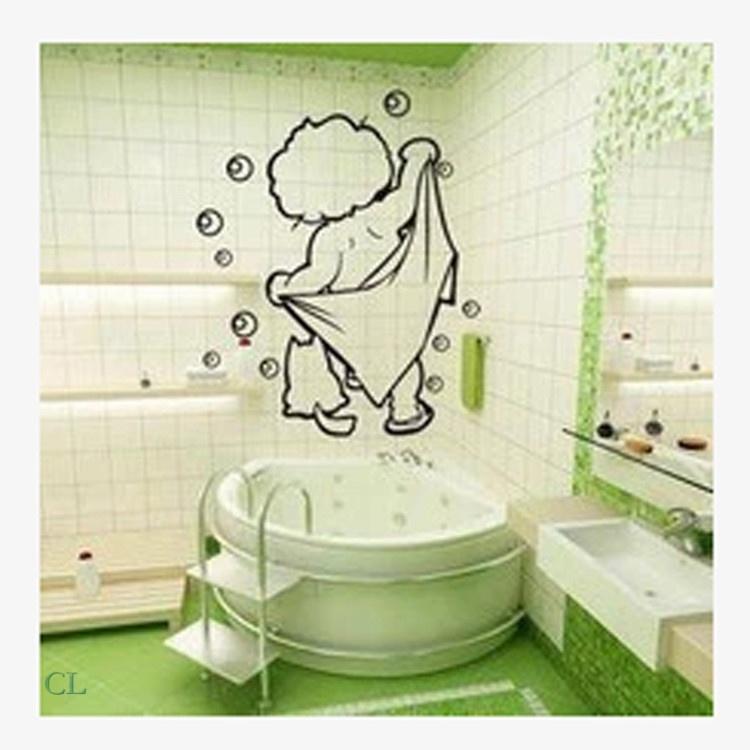 Трафарет в ванной комнате  фото 349