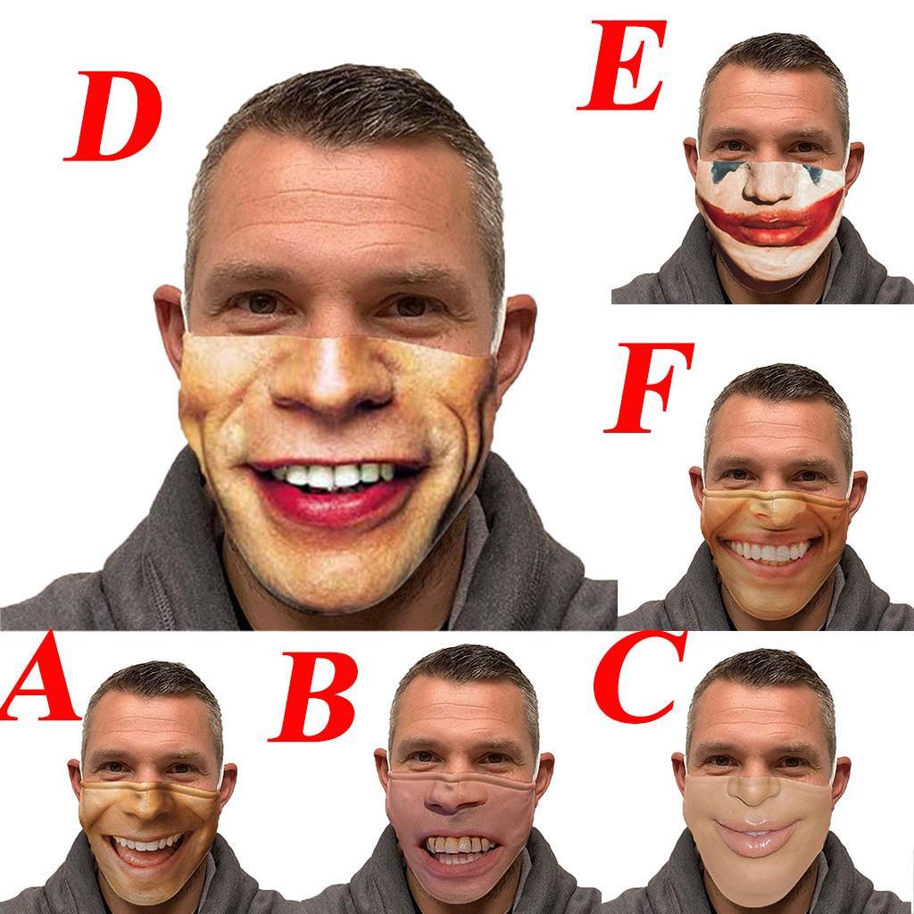 Missyou Unisex взрослых животных Печатные Смешные лица Открытый рот Дыхание Дыхание Велосипедная маска – купить по низким ценам в интернет-магазине Joom
