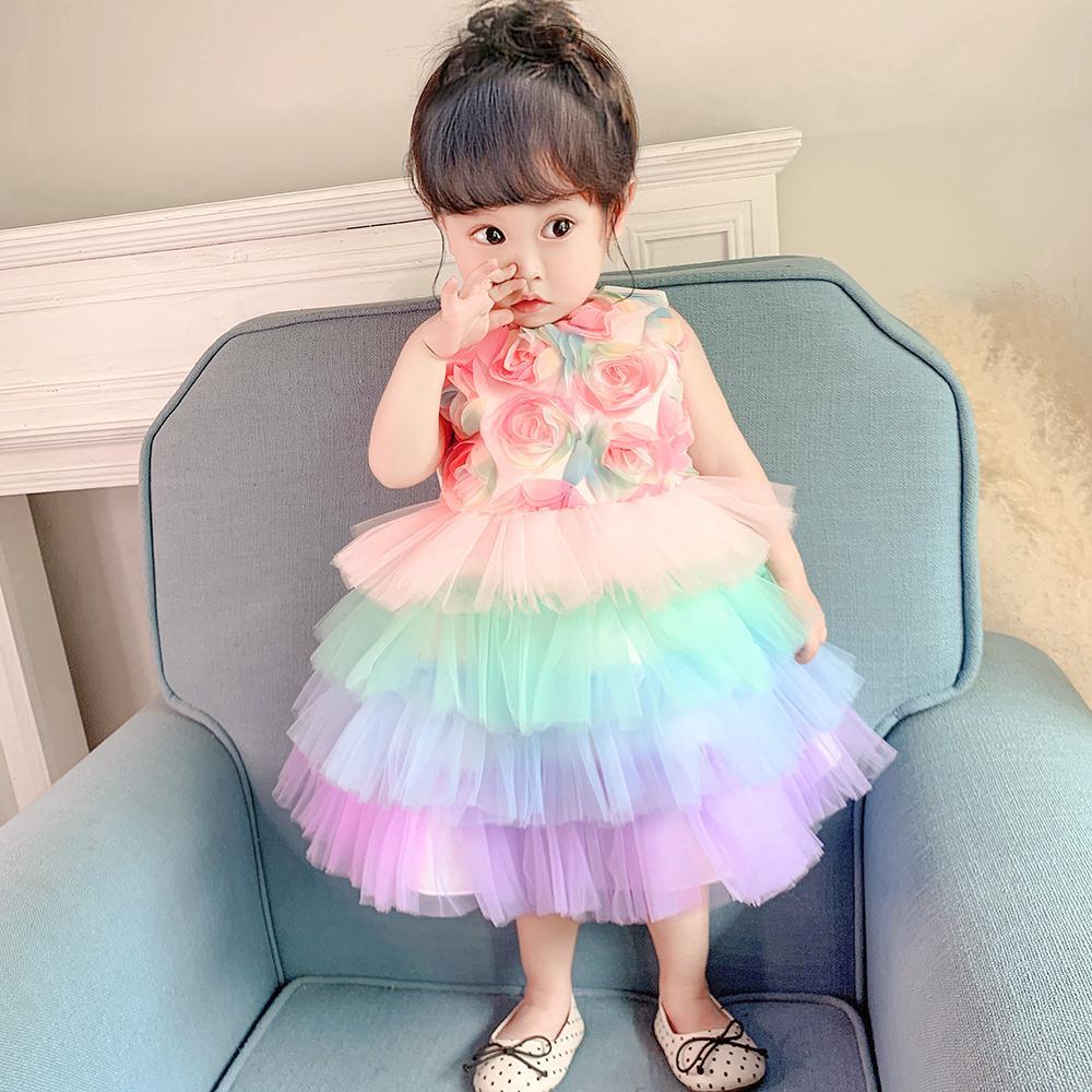 Newborn Baby Girl Flower Party Prom Christening Wedding Formal Princess Dress