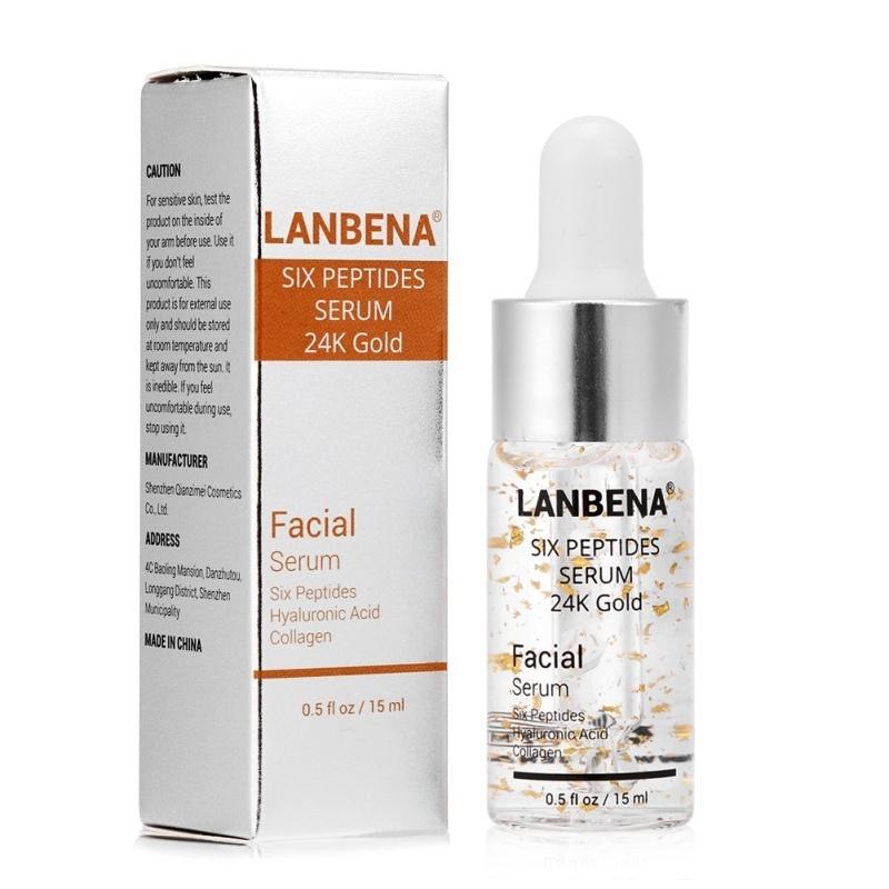 Six Peptides Serum 24k Gold Anti Aging Serum Anti Wrinkle Firm