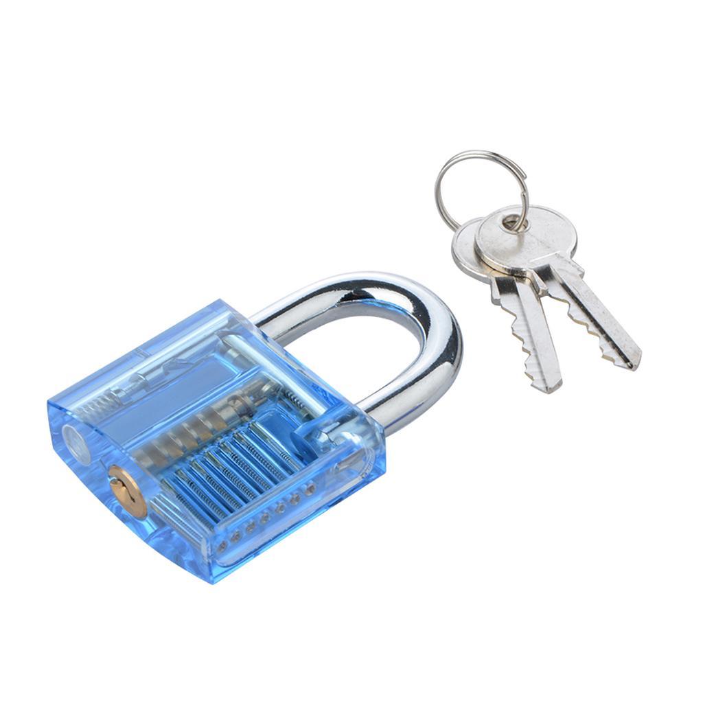 Transparent Lock Cutaway Visible Padlock For Practice Train 10pcs Lockpick Training Tool Set 1 Of 8