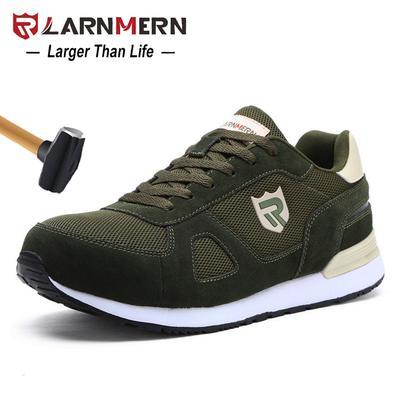 882c1471a59b8 LARNMERN léger respirant hommes sécurité chaussures chaussures de travail  en acier d orteil pour hommes