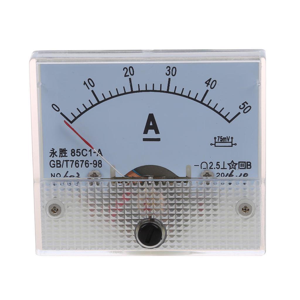 85C1 DC 0-30V Analog Panel Ampere Meter Gauge Voltage Tester