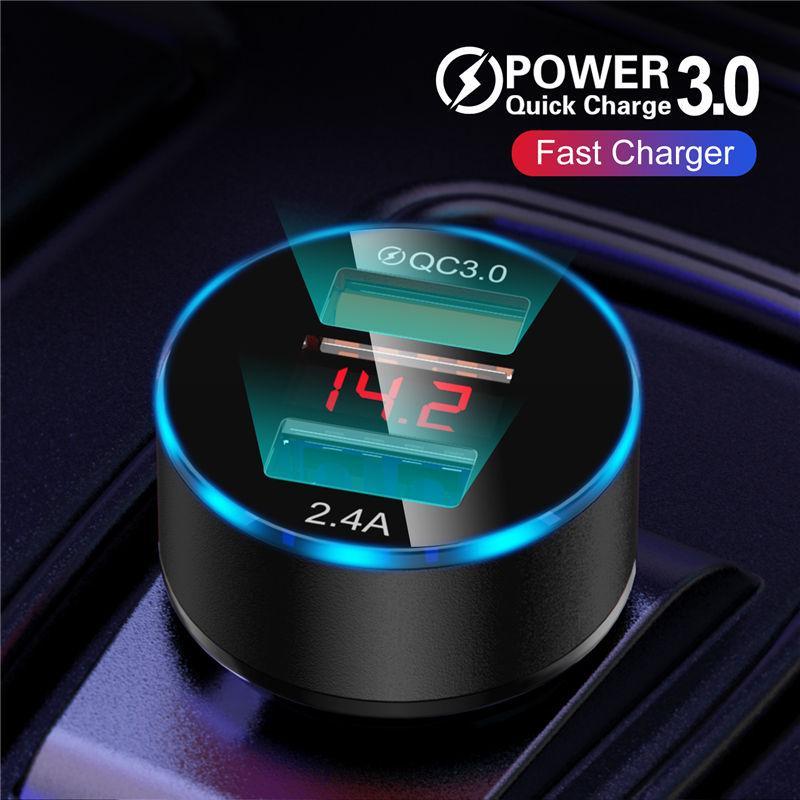 USLION 30W 3A Быстрая зарядка 3.0 USB автомобильный заряд для Xiaomi Mi Huawei USB автомобиль телефон быстрая зарядка