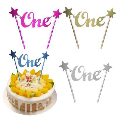 Outstanding Unique Glitter Star One 1St Happy Birthday Cake Topper Banner Funny Birthday Cards Online Necthendildamsfinfo