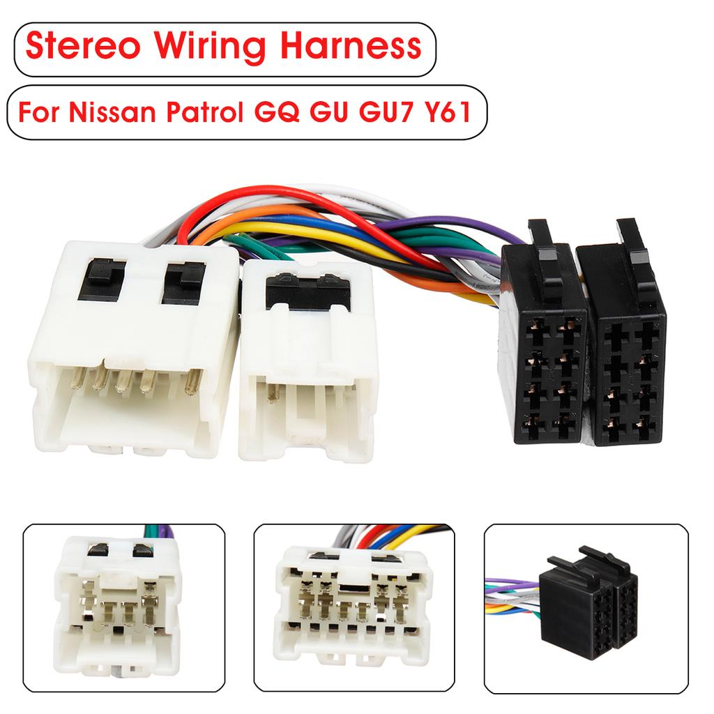 car stereo radio iso wiring harness loom adaptor connector for nissan  patrol gu7-buy at a low prices on joom e-commerce platform  joom