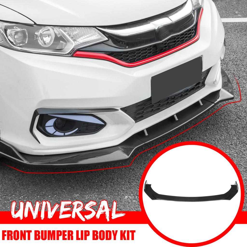 Universal Three Stage Carbon Fiber Detachable Front Bumper Lip Body Kit For Car Van Buy At A Low Prices On Joom E Commerce Platform