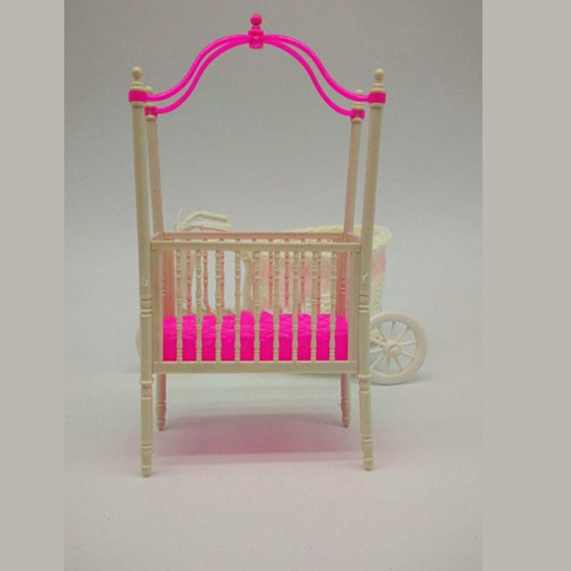 Dulce cuna para niñas de Barbie la muñeca bebé muñeca accesorios de ...