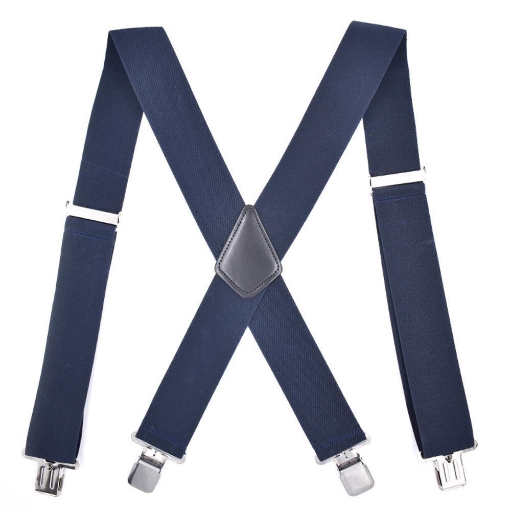 Men Commercial Pant Brace Strap Large Braces Blue Dot Suspenders Legs Belts S