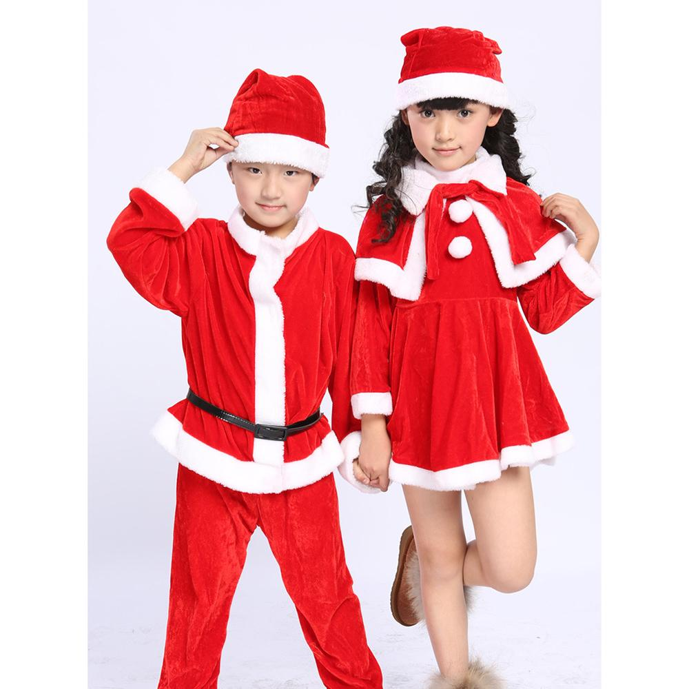 Toddler Children Boy Girl Christmas Santa Claus Clothes Sets Performance Costume
