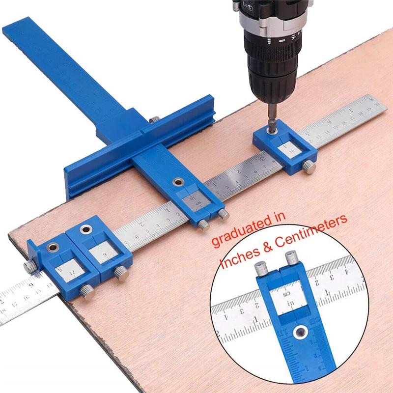 Woodworking Hinge Jig Hand Tools Set Locator Cabinet Mounting Accessories B