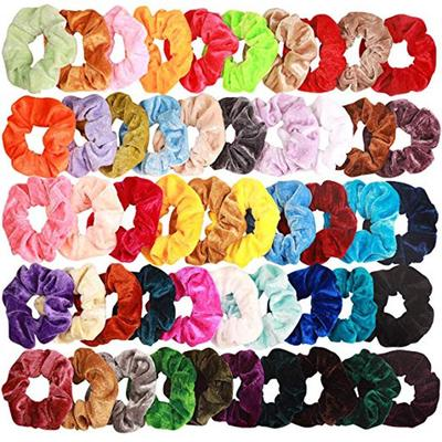 Women Ishua 12 PCS Solid Scrunchies Pere Lisci Satinati Elastici Per Hair Rope