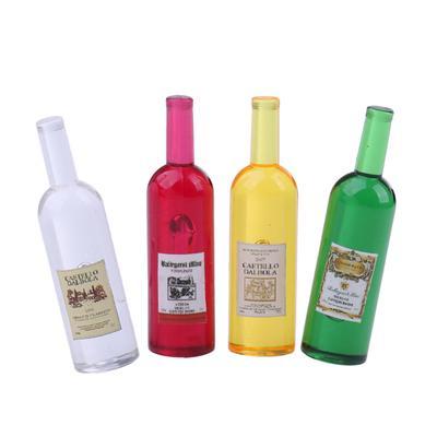 Conjunto de 6Pcs colorido botellas de vino Casa de muñecas en miniatura escala 1:12 Juguete Decoración agradable