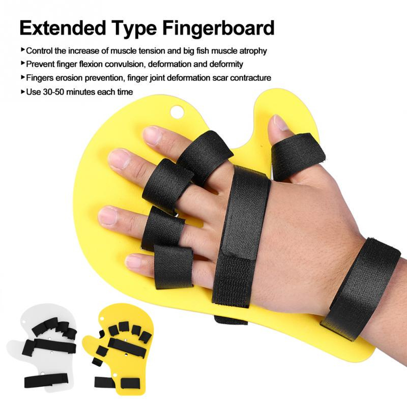 Finger Orthotics Silicone Universal Left and Right Hand Finger Orthotics Extended Type Fingerboard for Stroke//Hemiplegia Hand Splint Training Support Finger Training Board