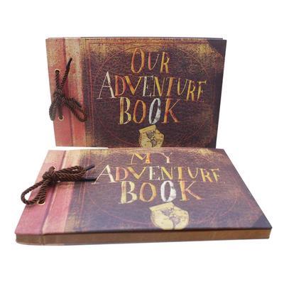 Wooden Photo Album Our Adventure Book Memory DIY Anniversary Scrapbook Travel