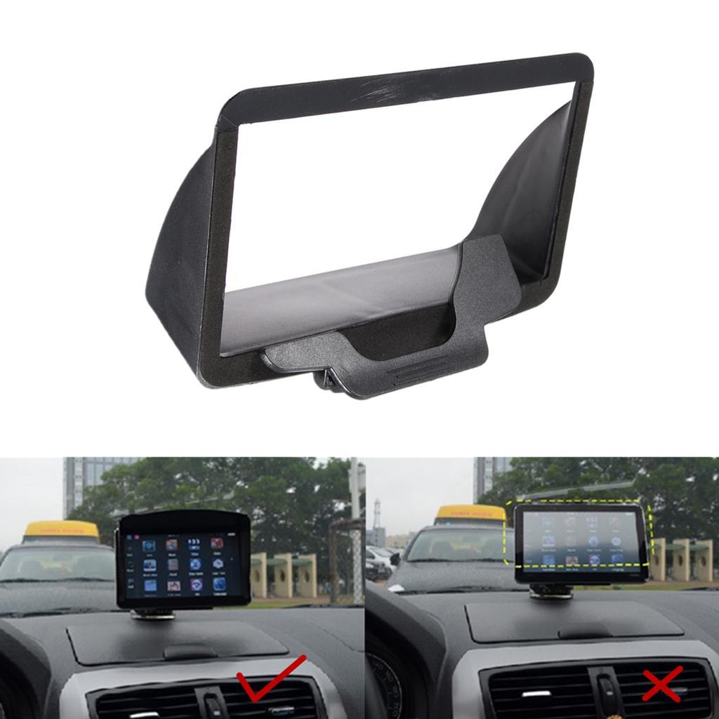 1x New 7Inch Sunshade Sunshield Visor Anti Glare For Car GPS Navigator Accessory