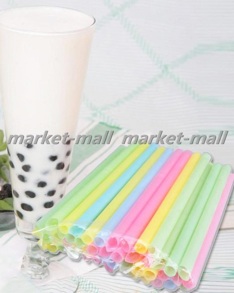 33Pcs Thick Drinking Straws Bubble Tea Smoothie Party Plastic Straw Supply