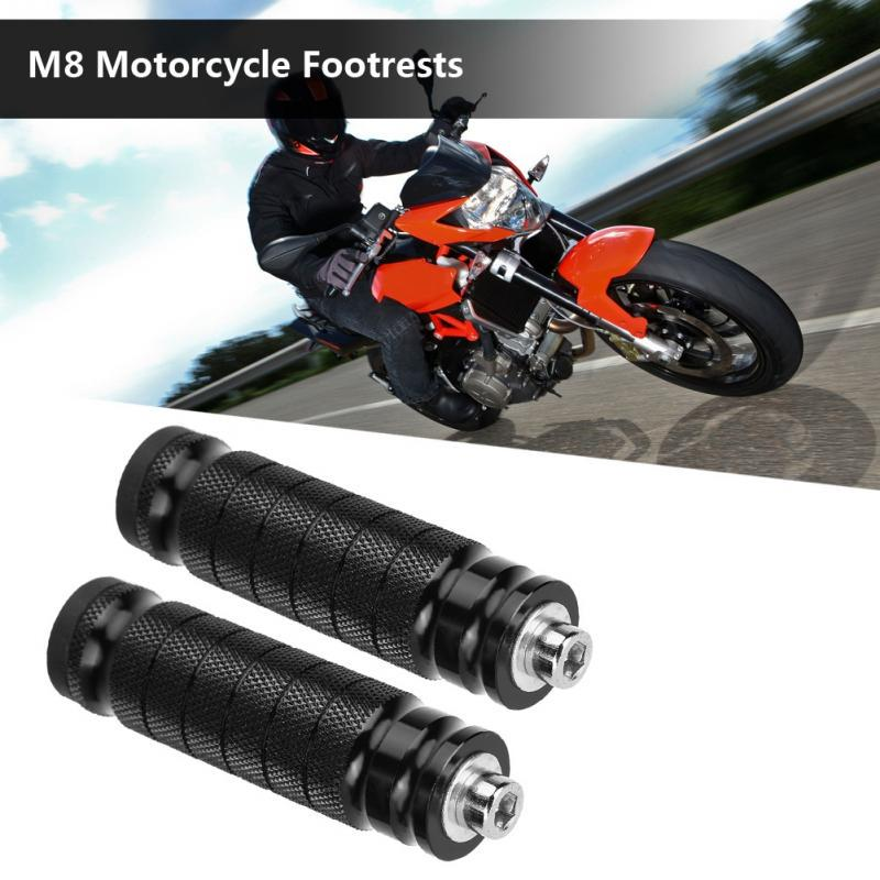 2pcs Cnc Motorcycle Rear Footrests Universal M8 Non Slip Foot Rest Pegs Pedals Buy At A Low Prices On Joom E Commerce Platform