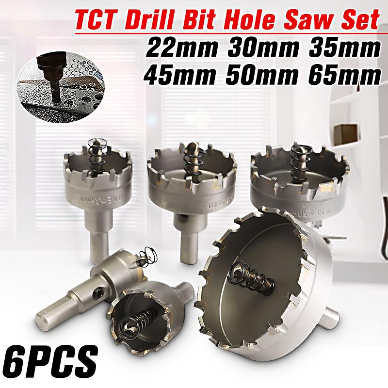 Plastic Drilling Tool For Metal Alloy Hole Saw Set Drill Bit HSS Tip Cutter
