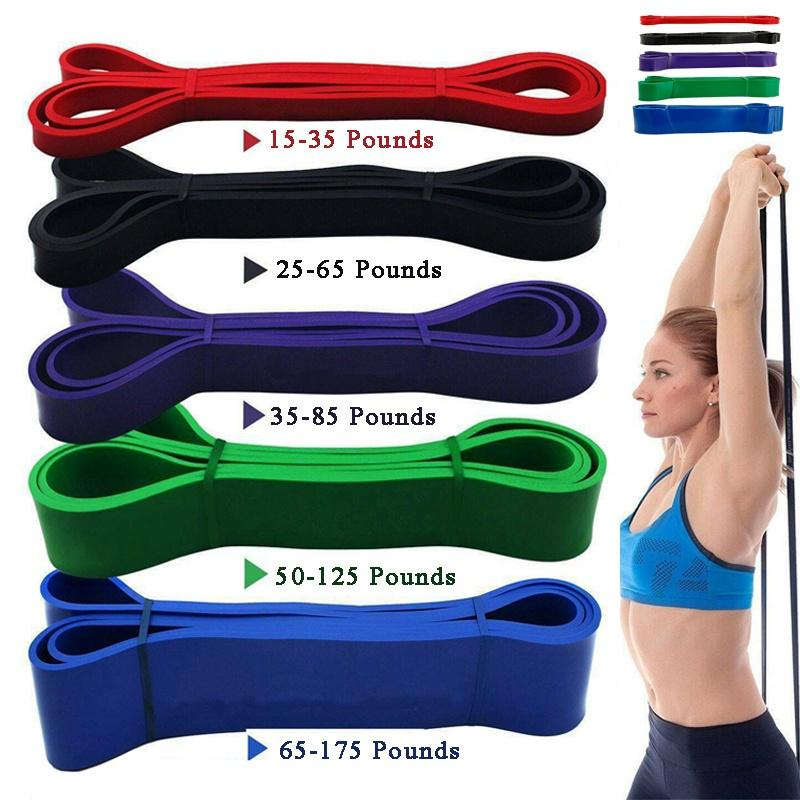 Resistance Stretch Loop Band Gym Yoga Fitness Exercise Rope Strap Abdominal Whee
