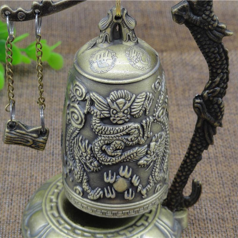 Home Decor Zinc Buddhist Bronze Lock Vintage Buddhist Bell Good Luck Bell