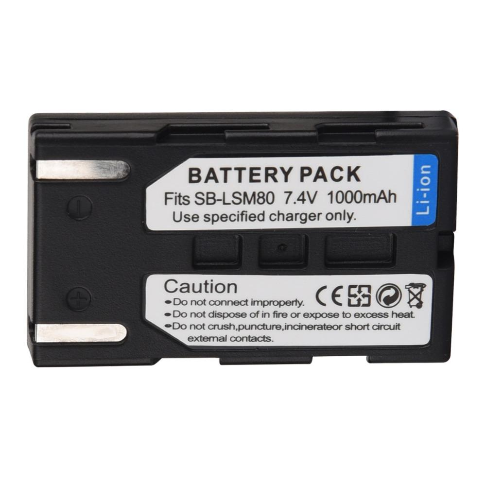 Battery Charger for Samsung VP-DC165W VP-DC165Wi VP-DC165WB VP-DC165WBi Camcorder