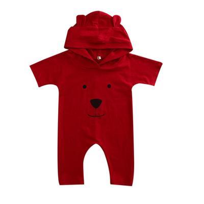 Dibujos animados bebé niños niñas oído una pieza de mameluco con capucha  mono Enterizo ropa 20efff8ad3ae