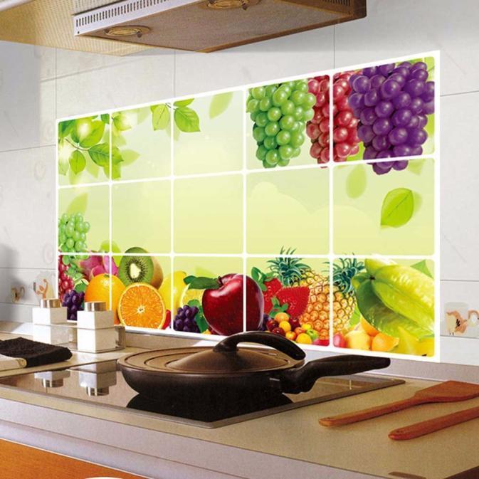Мода кухня нефтенепроницаемого съемным стены наклейки арт декор дома Термоаппликации фото