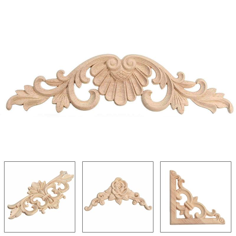 Lots Wood Carving Decal Applique, Wooden Appliques For Furniture