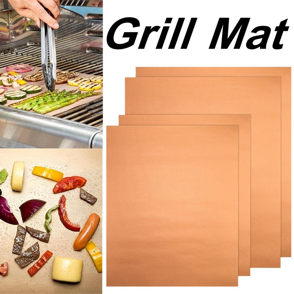 Details about  /Reusable BBQ Pad Tool Barbecue Grill Mat Chef Bake Mat Camping Picnic Food Mats