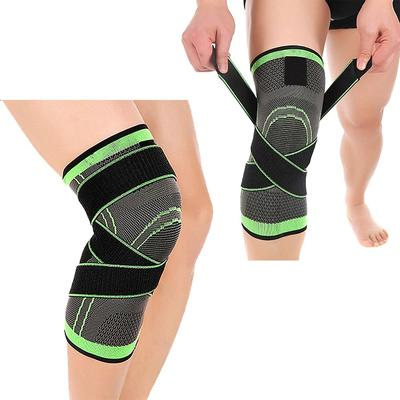 8b087cbad7 3D weaving pressurization knee brace hiking cycling knee Support Protector Knee  pad