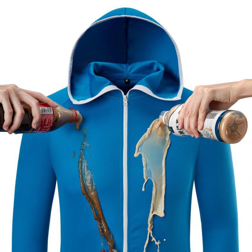 FieerMen Velvet Pocket Hooded Oversized Pure Colour Zip Warm Down Jacket