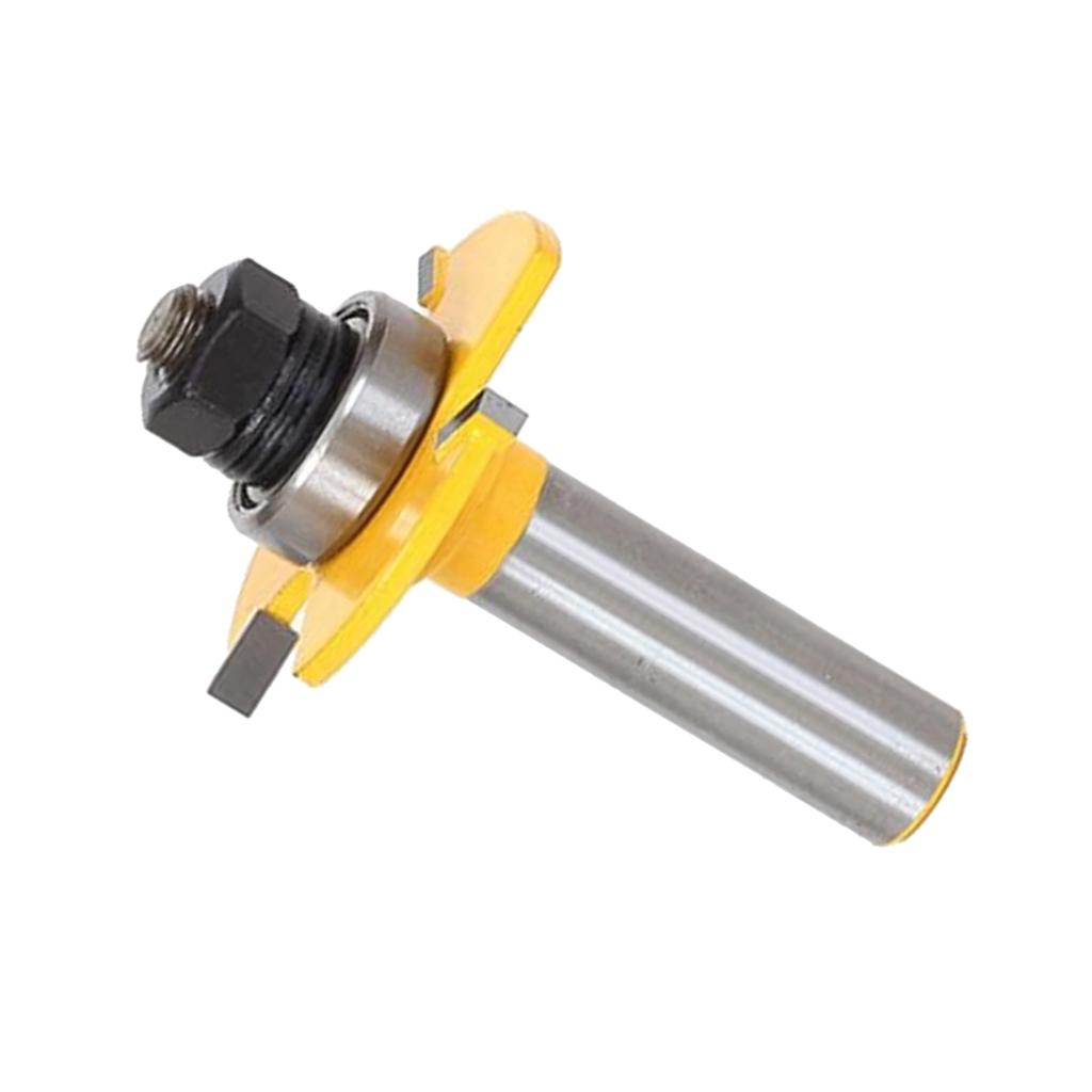 """1//4/"""" Shank Wood Biscuit Joint Slot Cutter Jointing Slotting Router Bits"""