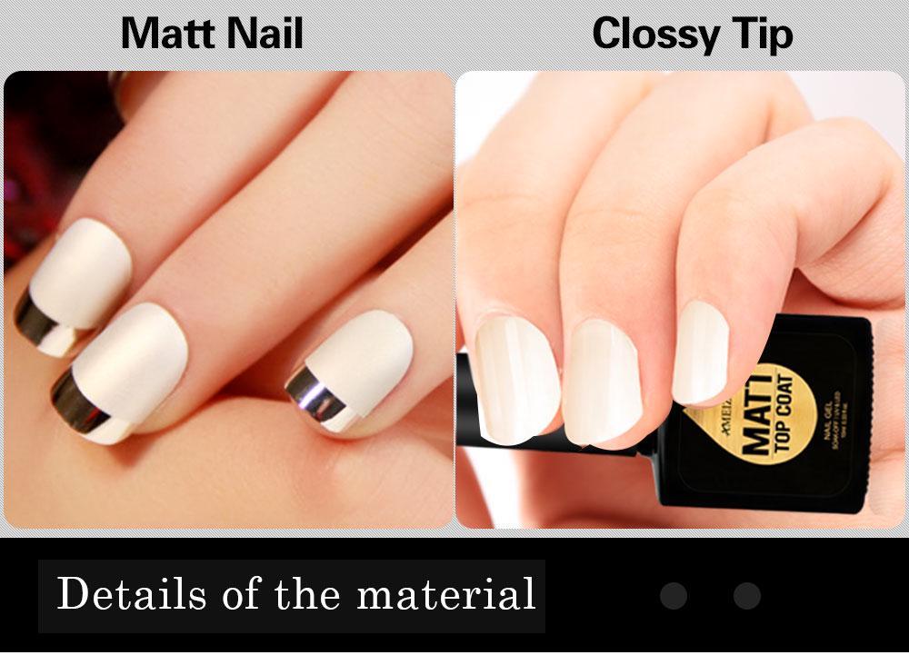 AMEIZII 7.5ML Matte Top Coat Transparent UV Gel Nail Polish Soak Off ...