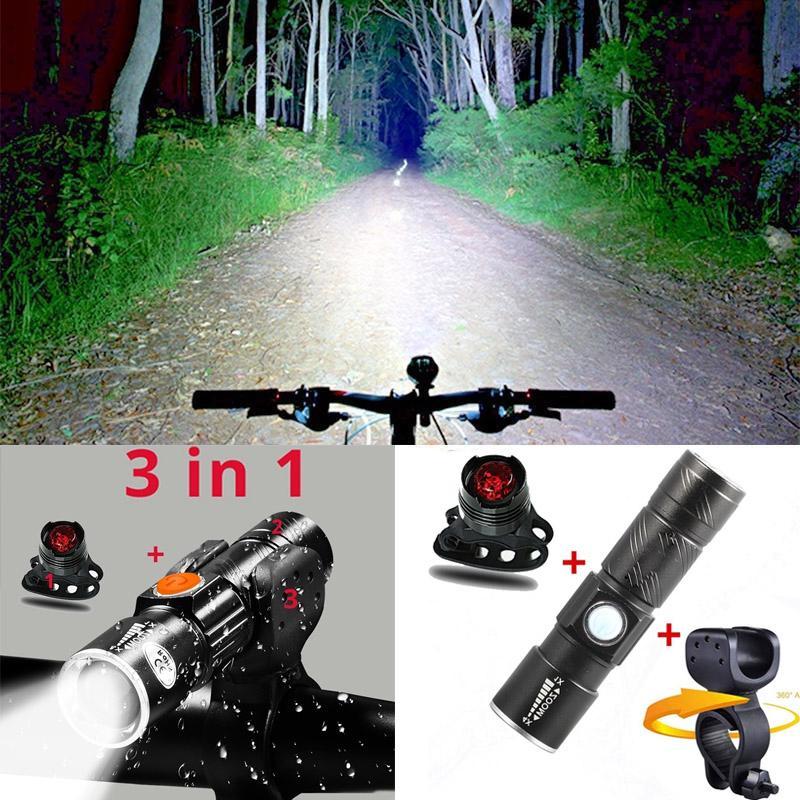 8000 просвіту велосипеда світла встановити USB акумуляторні LED водонепроникний супер яскрава Фара задні світло велосипеда світло – купити за низькими цінами в інтернет-магазині Joom