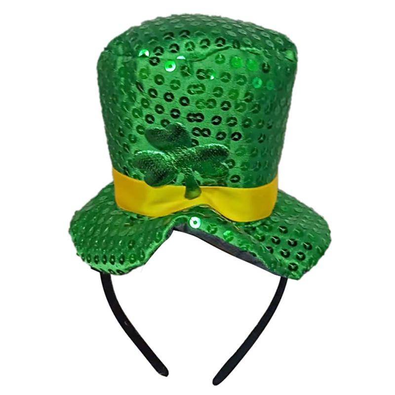 Sombrero diadema diadema fiesta de trébol decorativo pelo aro para ... 85c6b6e75b41