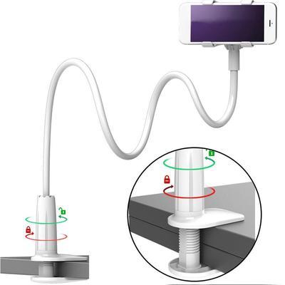 GoodKE Adjustable Long Arm Bed Desk Lazy Bracket Base Clips Smart Phone Stand Holder Stands