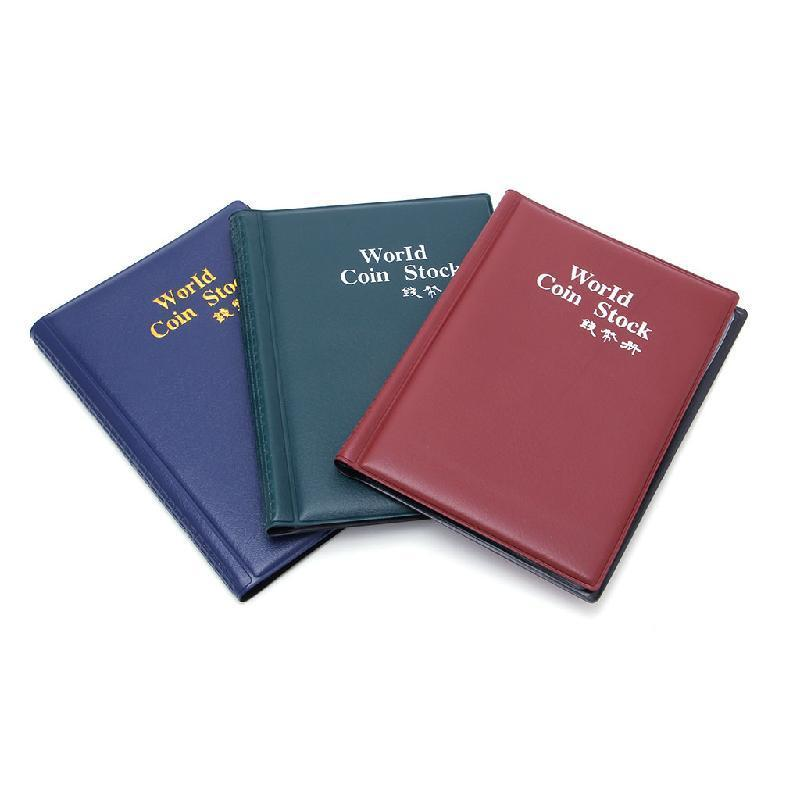 Coin Album 10 Pages 180 Pockets Coin Holder for Collectors 2 Pack Coin Collector Collection Book Random Color Money Penny Pocket
