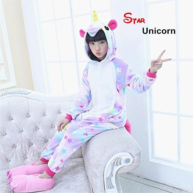 Діти єдиноріг піжами тварини костюм дітей Kigurumi косплей Onesie ... 8eac2c6e17cd0