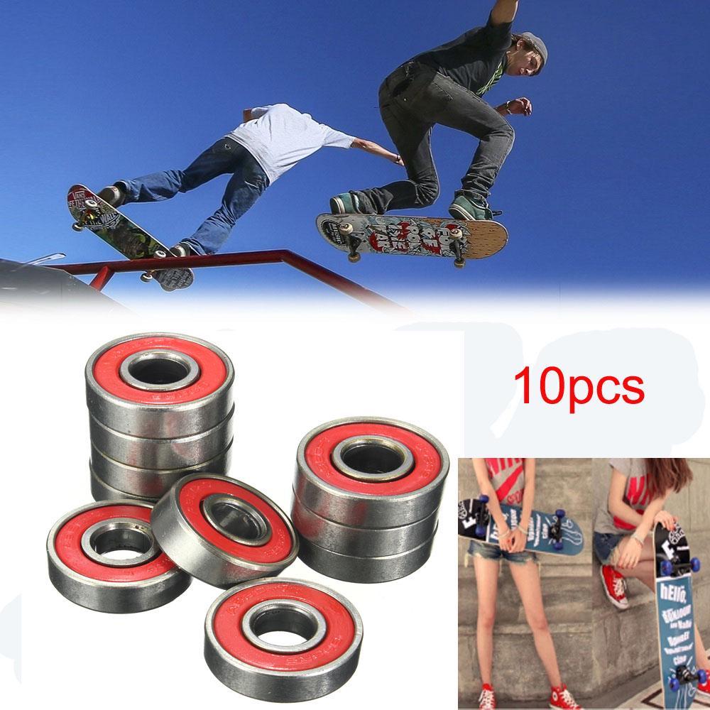 16pcs Frictionless Abec 9 Skateboard Roller Skate Bearings 608-RS 8x22x7mm