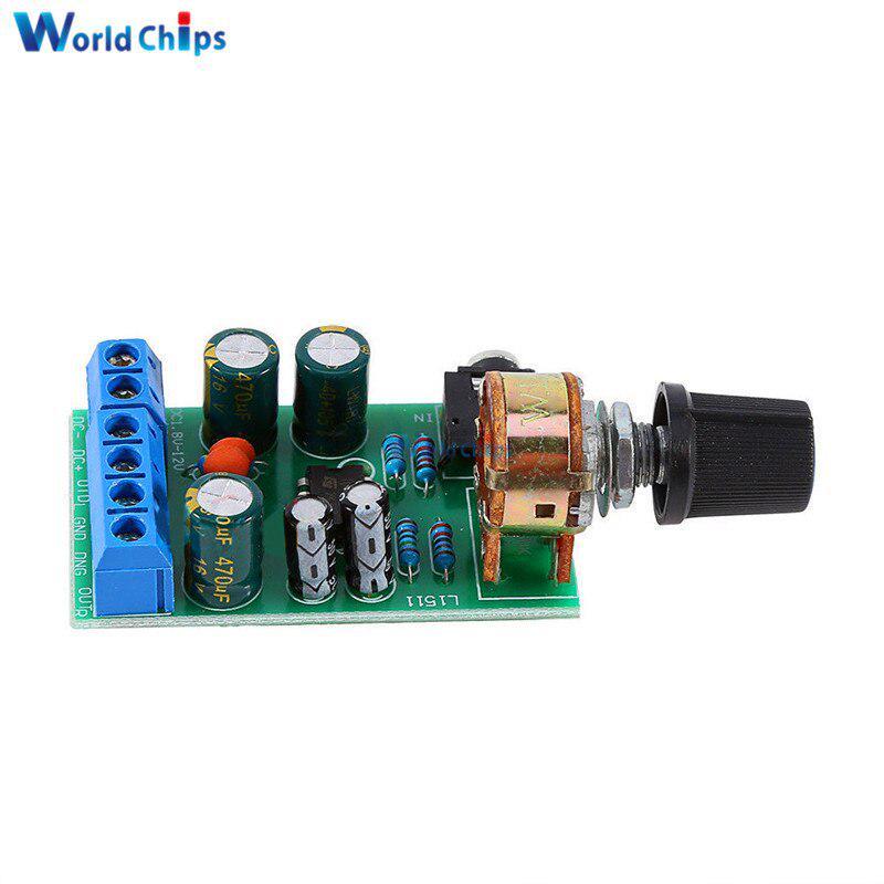 TDA2822 Mini Audio Power Amplifier Board DC 3V~12V 5V 3.5mm Stereo AMP Module