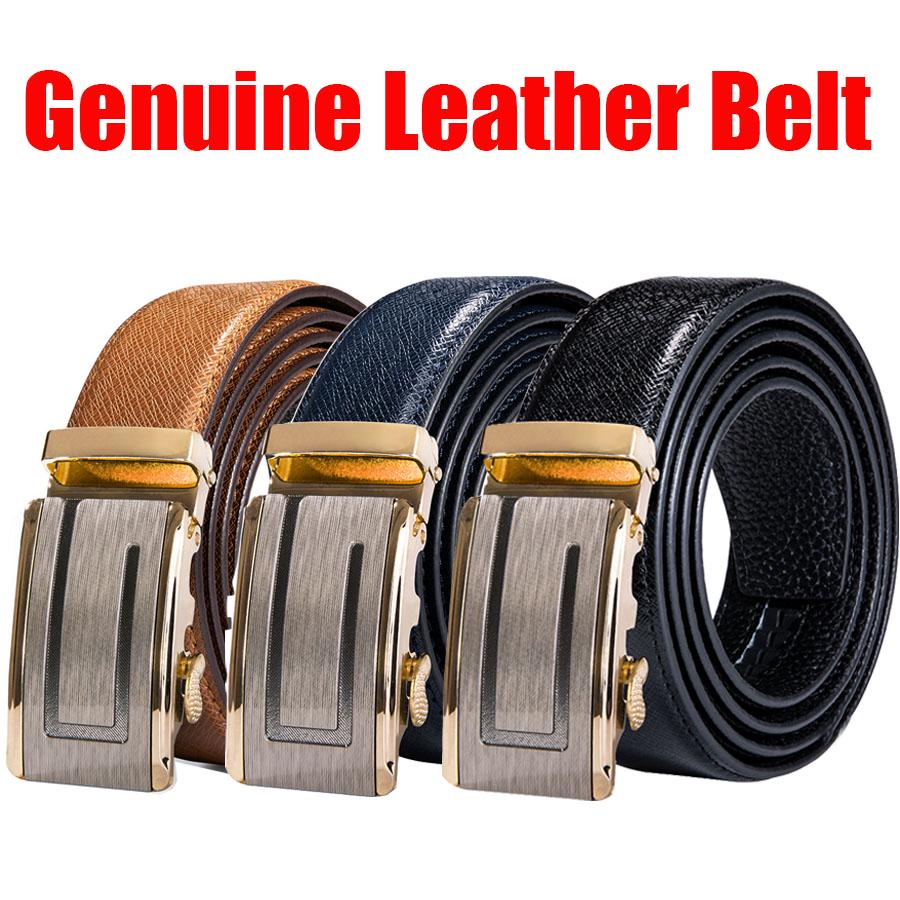 Classic Designed Buckle Male Strap Genuine Upper Leather Belt for Man Girdle Wide