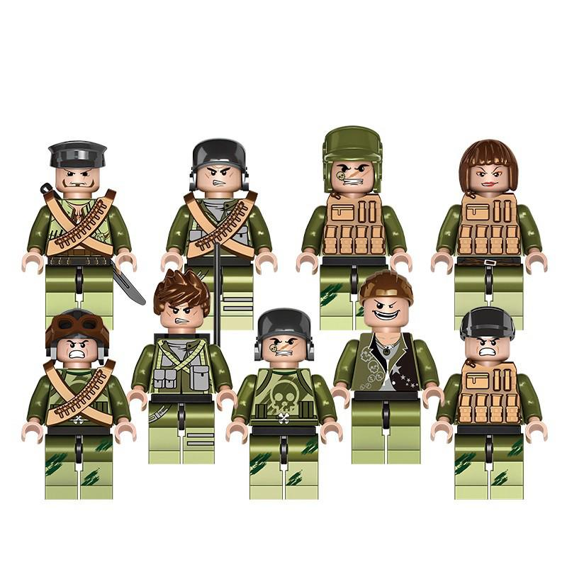 Army Soldiers Figure Military Building Block Army Air Force Navy Brick Toys Kids