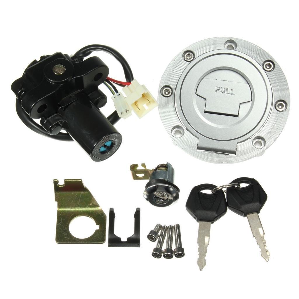 2 Key for Yamaha YZF R1 R6 R6S FZ6 FJR1300 Fuel Tank Cap Ignition Switch Seat Lock
