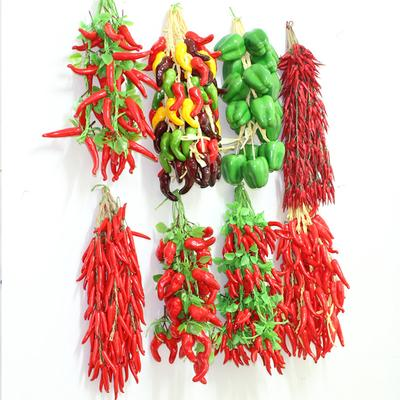Hanging String Pepper Artificial Red Home Decor Fruit Vegetable Props Simulation