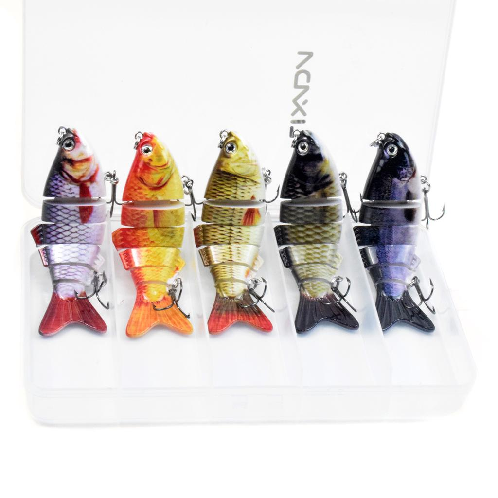 3pcs New 6 Segment Minnow Swimbait Lures Crank baits Baits Hard Bait Fishing Lur